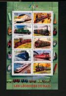 France BF  38  2001 Trains Locomotives TB** MNH  Sin Charnela - Nuevos