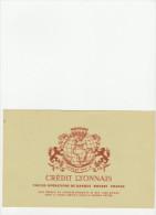 - BUVARD Crème  - CREDIT LYONNAIS - 057 - Bank & Insurance