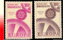 Rwanda 0204A/204B**  Naples  MNH - 1962-69: Neufs