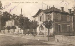 Cpa Animée De Rion-des-Landes (40), La Poste Et La Mairie, éd. Dassié, Photo Bernède à Morcenx, Hôpital En 1914 - Unclassified
