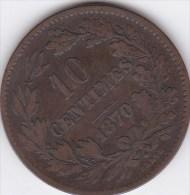 Luxembourg - 10 Centimes ,1870 - Luxemburgo