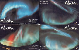 ALASKA PHONECARD(CHIP) AURORA BOREALIS(4pcs)-5000pcs-MINT(1) - Other - America