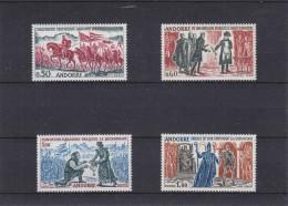 Napoleon - Charlemagne - Drapeaux - Soldats - Andorre Français - Yvert 167 / 70 ** - MNH - Valeur 85 Euros