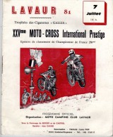 Sport - XXVme Moto-Cross Inter - Tabac, Cigarette : Gallia - Lavaur - Trphées Des Cigarettes Gallia -  - - Programmes