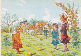 Croquet -- Une Partie De Croquet Entre Jeunes Filles - Dessin -- CPM - Other