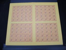INDOCHINE - N° Taxe 62 En Feuille De 100 Exemplaires - Luxe - Lot N° 5773 - Unused Stamps