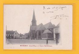 BELGIQUE - HAINAUT - WALLONNIE - MOUSCRON - GRAND'PLACE ET L'EGLISE BARTHELEMY - ANIMATION - Mouscron - Moeskroen