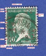 1923  / 1926  N°  170  PASTEUR   OBLITERE  DESCRIPTION 3 SCANNE - Abarten Und Kuriositäten