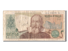[#304448] Italie, 2000 Lire Type Galileo - [ 2] 1946-… : République