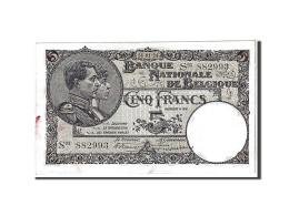 [#111117] Belgique, 5 Francs Type 1922-26 - 5 Franchi