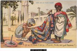 13091g G. BOURET -  PETIT MARCHAND - TAPIS De La  PLACE CLICHY - Paris - Carte Publicitaire - Bouret, Germaine