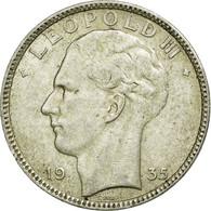 Monnaie, Belgique, 20 Francs, 20 Frank, 1935, TTB, Argent, KM:105 - 1934-1945: Leopold III