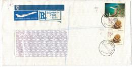 RSA - South Africa - Sud Africa - SUID AFRIKA - 1993 - Port Elisabeth + 2 X Crassula - Registered Air Mail - Viaggiat... - Sud Africa (1961-...)