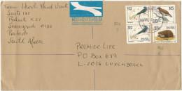 RSA - South Africa - Sud Africa - SUID AFRIKA - 1999 - 3 Bird + Hedgehog - Registered Air Mail - Viaggiata Da Sunnysi... - Sud Africa (1961-...)