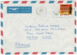 Zimbabwe - 1988 - 35c Traditional Dancing - Air Mail - Slogan - Remember Poppy Day - Viaggiata Da Harare Per Lille, F... - Zimbabwe (1980-...)