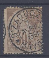 COLONIES GENERALES - 1881 - N° 55 - OBLITERATION DZAOUDZI MAYOTTE - - Alphée Dubois