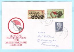 DDR GDR RDA FDC Brief Cover Lettre  1874-1875 Kampftruppen Der DDR 20 Jahre  (31832) - DDR