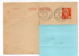 Entier-1952--CP N°408--12f Marianne De Gandon--Beau Cachet MONCOUTANT--79- - Entiers Postaux