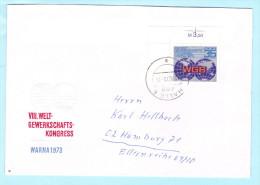 DDR GDR RDA FDC Brief Cover Lettre 1885 (Eckrand) WGB Weltgewerkschaft Kongreß  (31838) - FDC: Enveloppes