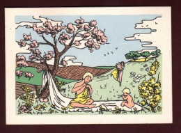 Double Carte De Vœux - Imagerie PELLERIN à ÉPINAL - Printemps , édition Croix-Rouge, 2è Série - 3 Scanne - Unclassified