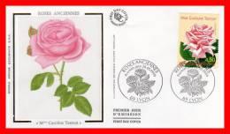 """FRANCE 1999 : FDC En Soie : ROSE """" MADAME CAROLINE TESTOUT """" N° YT 3249 !"""