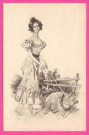 Raphael Kirchner - Brüder Rosenbaum - Femme Promenant Un Cochon - Pig - B.R.W. 382 - Rare - Kirchner, Raphael