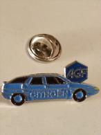 Pin's Voitures Automobiles : Voiture CITROEN XM Bleu Auto Publicité Assurance AGF - Citroën