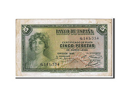 Espagne, 5 Pesetas Type 1935 - [ 2] 1931-1936 : République