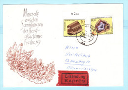 DDR GDR RDA FDC Brief Cover Lettre EXPRESS 2006 (Rand) 2011 Minerale  (2 Scan) (31854) - DDR