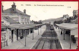 78 TRIEL - Le Train Poiur Paris Arrivant En Gare - Triel Sur Seine