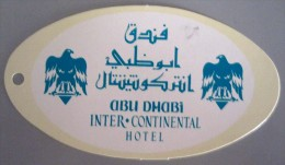 HOTEL MOTEL PENSION INN INTER CONTINENTAL ABU DHABI UAE MIDDLE EAST TAG STICKER DECAL LUGGAGE LABEL ETIQUETTE AUFKLEBER - Hotel Labels