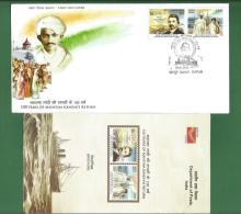 INDIA 2015 Inde Indien - MAHATMA GANDHI'S RETURN From South Africa - 2v FDC MNH ** + BROCHURE - Ship Newspaper GANDHI .. - Mahatma Gandhi