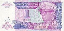 Zaire 1 Nouveaux Zaire 1993 Pick 52 UNC - Zaire