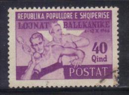 GF23 - ALBANIA 1947 , Yvert N. 352 Usato . Giochi Balcanici - Albania