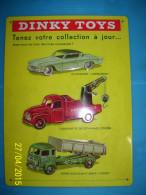 Plaque Publicitaire DINKY TOYS . En Métal En Relief . SUPER état . - Cars & 4-wheels