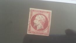 LOT 255380 TIMBRE DE FRANCE OBLITERE N�17A VALEUR 65 EUROS TB