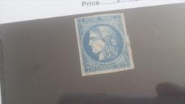 LOT 255392 TIMBRE DE FRANCE OBLITERE N�46A  VALEUR 100 EUROS