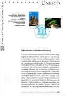 """Notice Officielle 1er Jour De 2003 """" UNESCO 2003 : LAPONIE / ST-PETERSBOURG. N° YT SERV 128 129 En Parfait état !"""