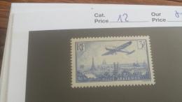 LOT 255557 TIMBRE DE FRANCE NEUF* N�12 VALEUR 25 EUROS