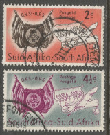 South Africa. 1954 Centenary Of Orange Free State. Used Complete Set. SG 149-150 - Zuid-Afrika (...-1961)