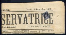 Journal L'Union Conservatrice 1886 Avec Un N° 83 - 1877-1920: Periodo Semi Moderno