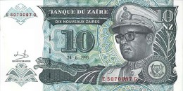 Zaire 10 Nouveaux Zaire 1993 Pick 55 UNC - Zaire