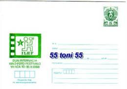 1988 ESPERANTO – Kino-foto Postal Stationery  BULGARIA / Bulgarie - Interi Postali