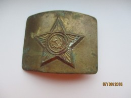 USSR RUSSIA  SOVIET ARMY  BELT BUCKLE , BRASS  , 0 - Uniforms