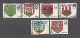 Czechoslovakia Tschechoslowakei 1971 Gest Mi 1994-1999 Sc1742-1747 Städtewappen, Coat Of Arms 1971. - Czechoslovakia