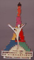 Gymnastique_Championnat Du Monde_Trophée _France Telecom_PARIS 92_Tour Eiffel_Signé ML 91 - Gymnastics