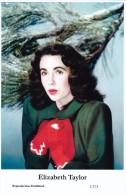 ELIZABETH TAYLOR - Film Star Pin Up - Publisher Swiftsure Postcards 2000 - Artisti