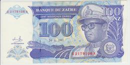 Zaire 100 Nouveaux Zaire 1993 Pick 58a UNC - Zaïre