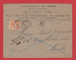 Enveloppe Retour à L'envoyeur  // Pour Marseille  //  9 Mars 1899  // - Marcophilie (Lettres)