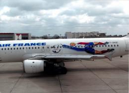 AVION - Aviation -AIR FRANCE COUPE Du MONDE De FOOT  - 13  X18 Cms. Equipe De FRANCE *PRIX FIXE - Aviation